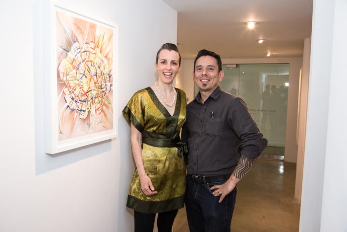Artist Melodie Provenzano with artist Orlando Arocena