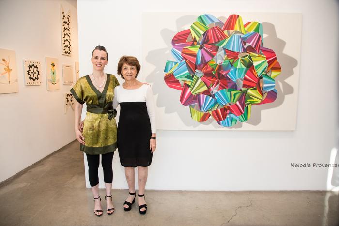 Artist Melodie Provenzano with Gallerist Nancy Margolis