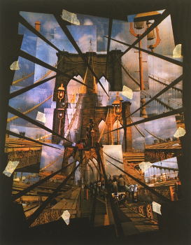 "Brooklyn Bridge Erratica II, 2007. silkscreen, 23"" x 17 7/8"""