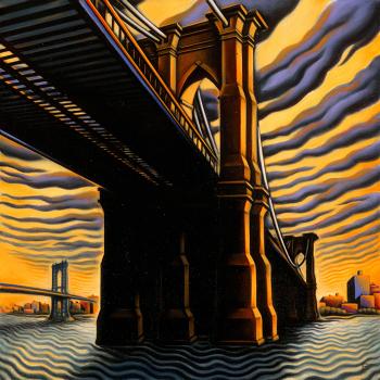 """Brooklyn Bridge III, 2001. oil on canvas, 30"""" x 30"""""""