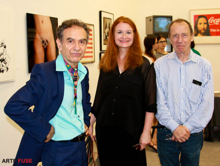 (L-R) Juan Puentes, Karen Finley and Anthony Haden-Guest