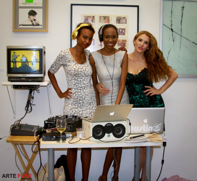 (L-R) DJ Sharri, Tiffany Woodson and Sonija Baram
