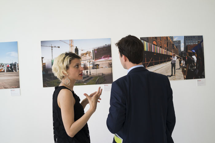 Veronica Santi (ArtBridge) with Edoardo Roberti (Sotheby's)