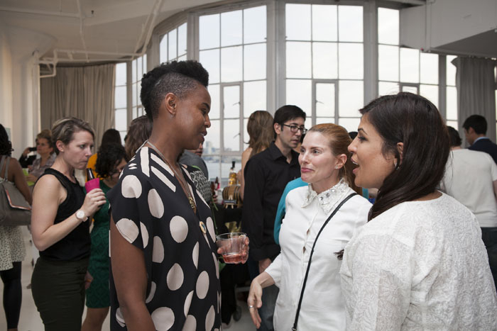 Wangechi Mutu (artist, honoree), Holly Hager (co-founder, Curatious), Seema Bajaj (co-founder, Curatious)