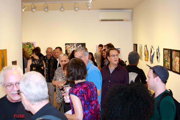 Opening night for Summer Salon 2015 at the Van Der Plas Gallery