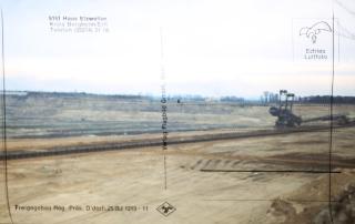 Katharina von Hagenow, Werk 5151 - Haus_Etzweiler, Slideshow installation with 65 sildes, projected on a postcard, 2014
