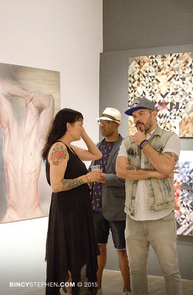 (L-R) Melissa McCaig-Welles, Jerome Lagarrigue and Tim Okamura