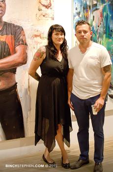 (L-R) Curators Melissa McCaig-Welles and Rodrigo Valles