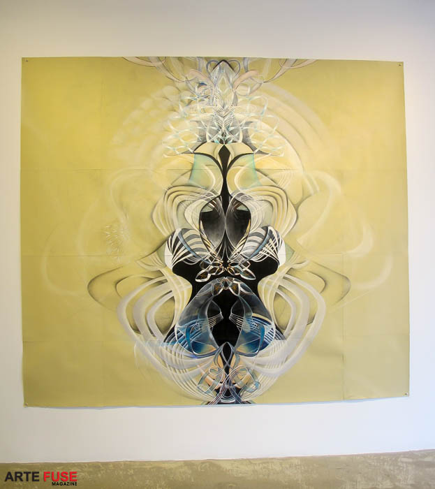 The Ultraviolet Underground-PT1, 2015 Graphite, gouache, pastel and conté crayon on paper 92 x 104 inches