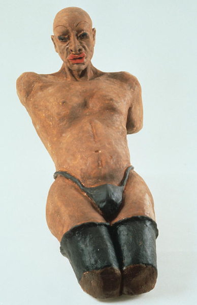 Man in Black Stockings