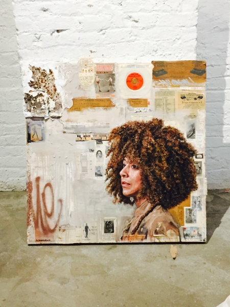 "Secret Codes and Ciphersby Tim Okamura, 36"" x 36"", Oil and Mixed Media on Canvas"