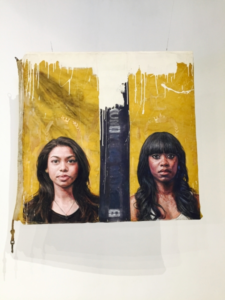 """Uno/Infinito by Tim Okamura, 48"""" x 48"""", Oil and Mixed Media on Canvas"""