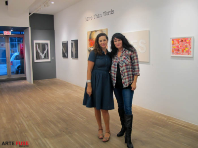 (L-R) Curators Latifa Metheny and Melissa McCaig-Welles