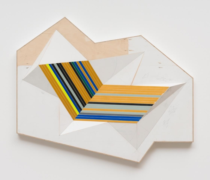 Fuji, 2015, 93 × 127 × 12 cm, plywood, screws, glue, acrylic / photo (c) Marcus Schneider