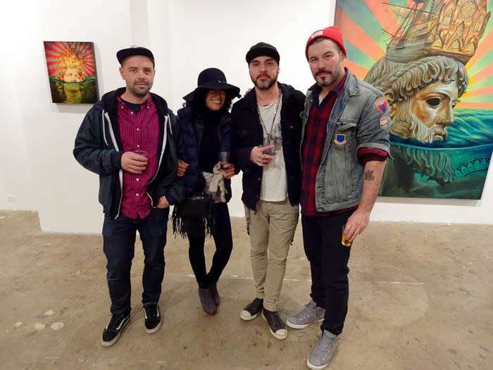 (R) Tim Okamura with friends