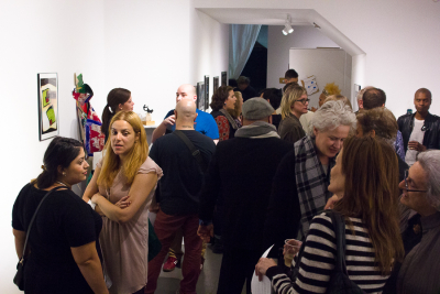Full on Art crowd at gallery one twenty eight