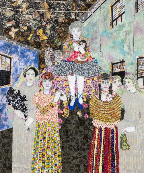 Maria Berrio, The Procession, 2015, mixed media on canvas