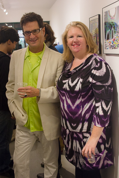 (L-R) Artists Jefre Harwoods and Kaitlin Martin