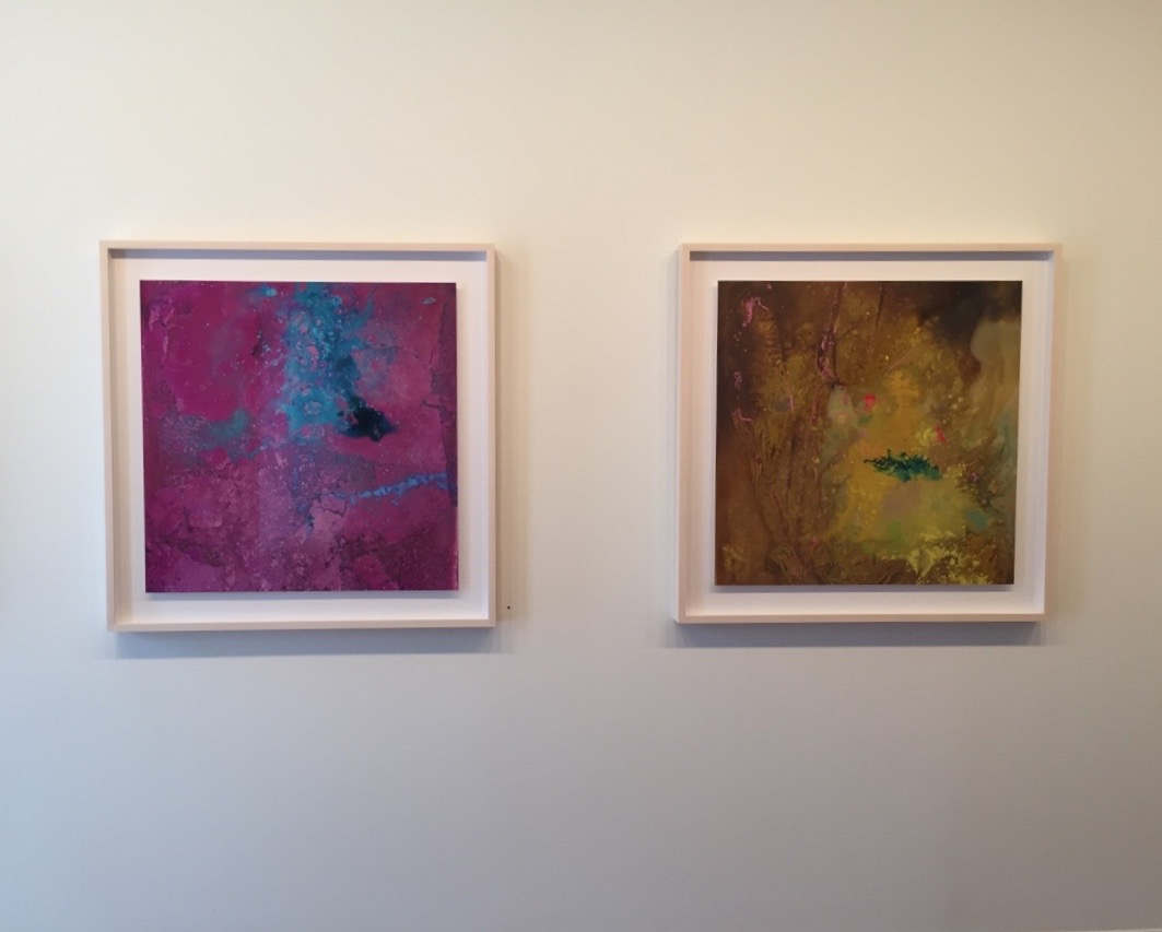"Left: Of Milk II, 2015, archival light jet print, 32"" x 32"" Right: Of Milk III, 2015, archival light jet print, 32"" x 32"""