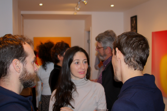 Opening night for Miriam Cabessa at Jenn Singer Gallery