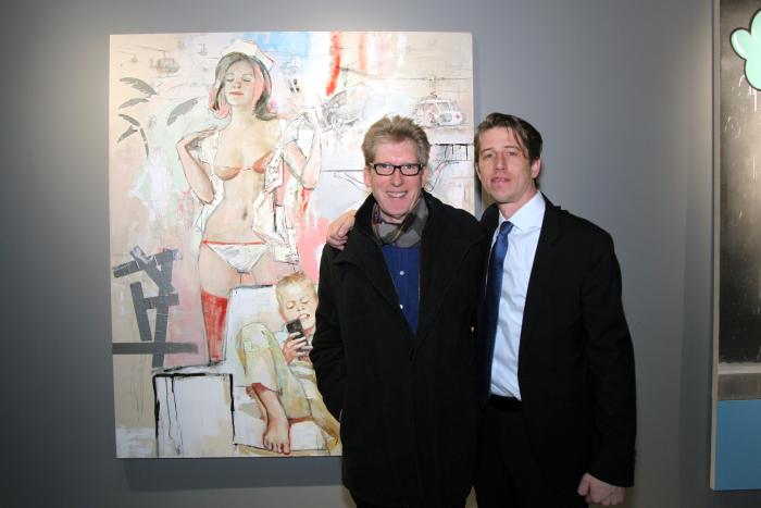 (L-R) Artist Mike Corkill and Gallerist Casey Glenhorn