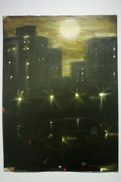 Illuminated work by Kathryn Lynch