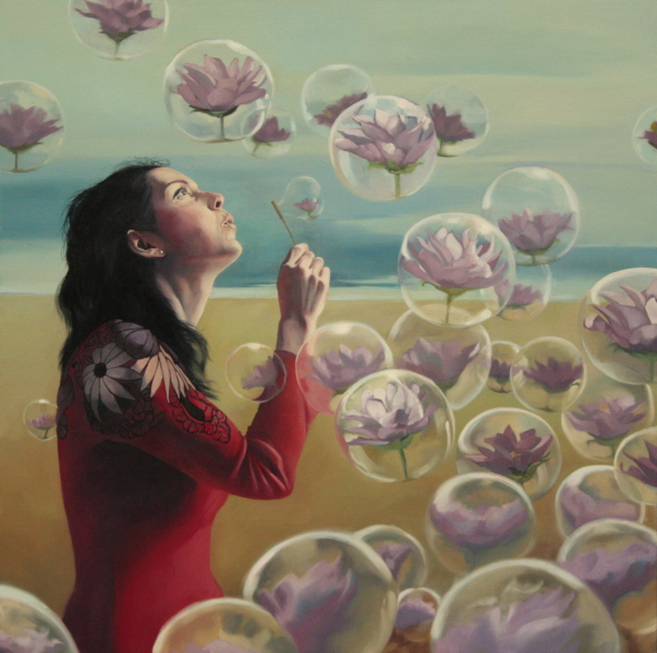 "The Lotus Eater, oil on canvas, 36""x 36"", 2015"