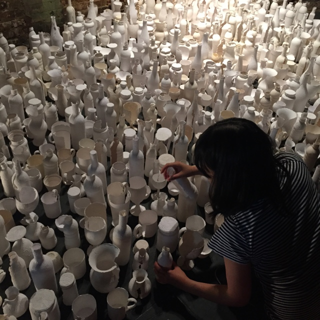 Sun Young Kang - In Between Presence and Absence , Call for Bushwick 2015, NY (Photo by Seung Hui Koo)