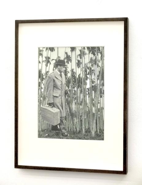 Alexandra Baumgartner, Untitled (Voyage), 2015, collage on mirror © photo: Hannah Beck-Mannagetta