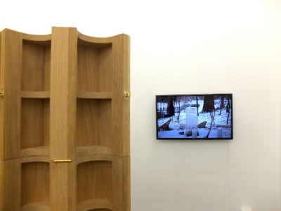Exhibition view, Freitag, der 13. | יום שישי ה- 13 , CIRCLE1, Photo: Hannah Beck-Mannagetta, works: benandsebastian, forgotten follies of sølyst, 2010/2011, installation / hd film, Film made in collaboration with Anne Haaning