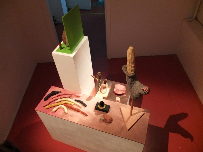 J&K / Janne Schäfer and Kristine Agergaard, Gathering (Keith, Proto-Human, Ignored Elder, The Native, Hobo, Realised Retard, Alien Priest, Quasi, Aghora Baba, I have the vision, Empathetic Transplant, Releasing the fear of seeing the future, Infective Agents) from Museum of O.O.O., 2015 © photo: Hannah Beck-Mannagetta