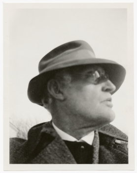 Self-Portrait with Hat and Glasses at Ekely 1930