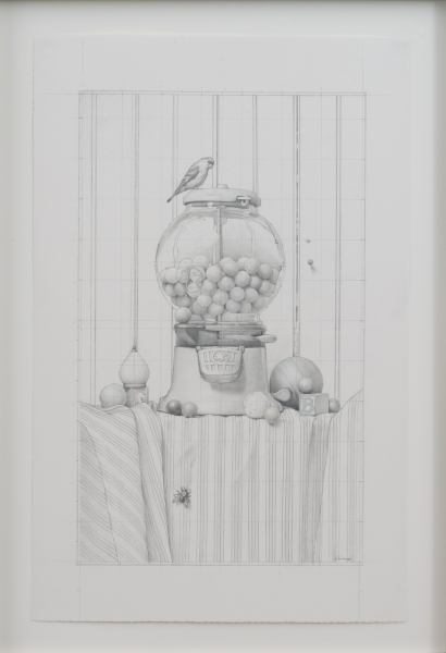 The Gumball Incident (Drawing), Graphite and colored pencil on paper, 2015, 29 x 19 inches