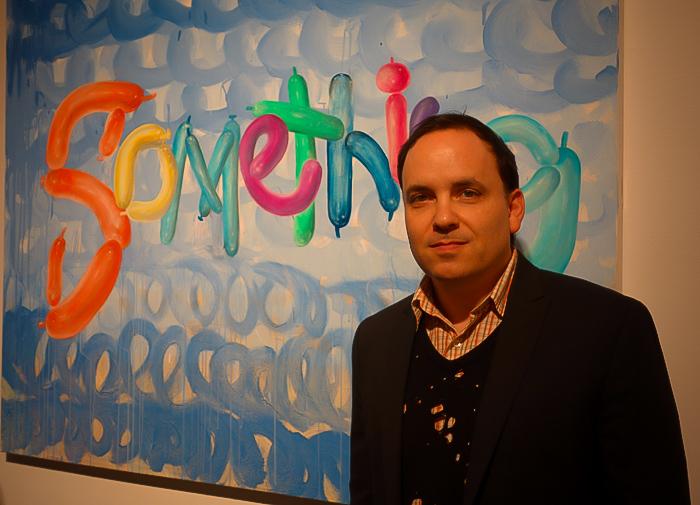 Artist and curator Noah Becker