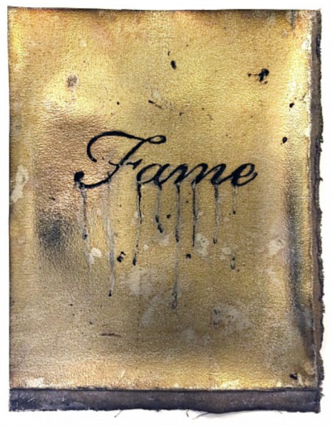 Nir Hod, Fame, 2015, Oil and acid on oxidised chromed canvas, 20 1/2 x 16 in. (52.1 x 40.6 cm)