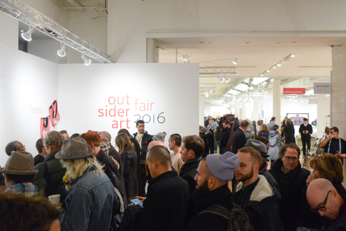 The VIP Preview and Vernissage of the Outsider Art Fair drew an eclectic crowd of enthusiasts an
