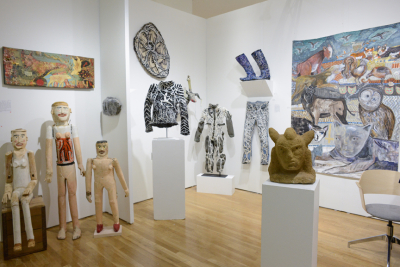 Webb Gallery's booth. Photograph by Casey Kelbaugh