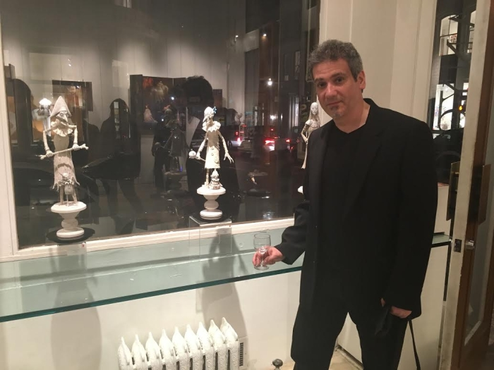 William Basso with sculptures