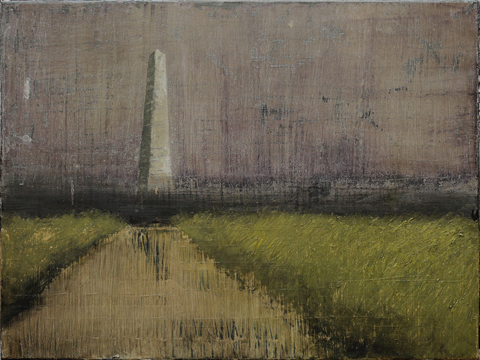 ACam-7 Obelisco (Obelisk), 2015.jpg Alejandro Campins Obelisco, 2015 - 2016 oil on canvas 17 3/4 x 23 5/8 inches (45 x 60 cm) © Alejandro Campins Courtesy: Sean Kelly, New York