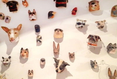 Michael Ballou, Masks, 2015, Installation View