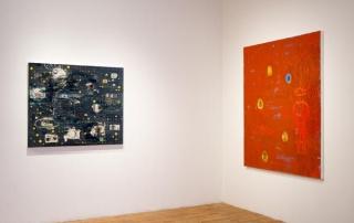 Installation shorts of Crypto Somatic Incantation: New Paintings by Charles Yuen at Studio 10