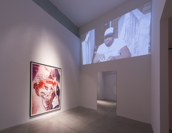 Installation shot of like·ness at Albertz Benda Gallery