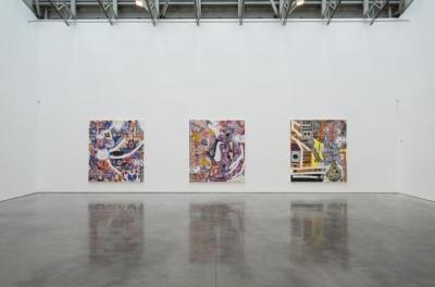 Installation view for Lari Pittman: NUEVOS CAPRICHOS at Gladstone Gallery
