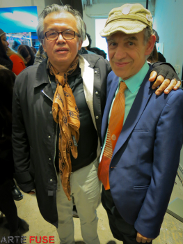 (L-R) Curators Raul Zamudio and Juan Puntes