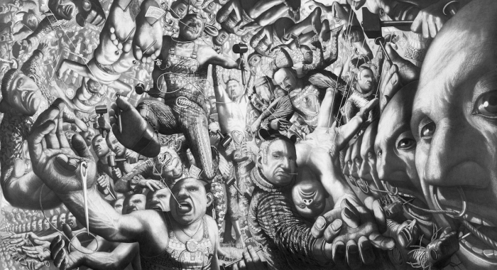 TOY STORY II, 2000-2001, graphite lead on paper, 150 x 300 cm Museum OVERHOLLAND