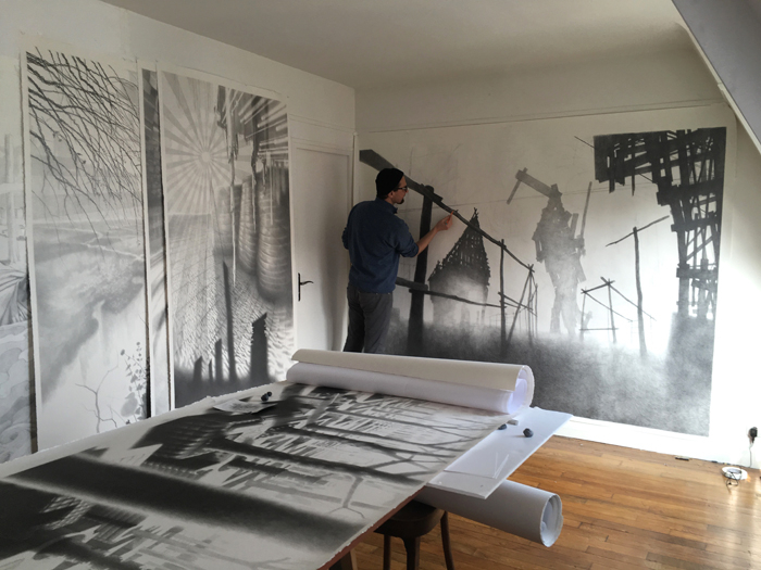 Davor Vrankic in his studio