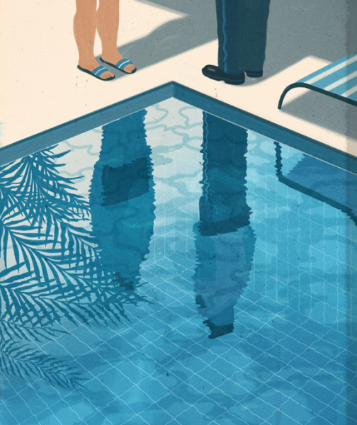 Emiliano Ponzi, House with Swimming Pool, The New York Times Book Review, 2014