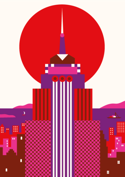 Empire-State-Building-by-Olimpia-Zagnoli