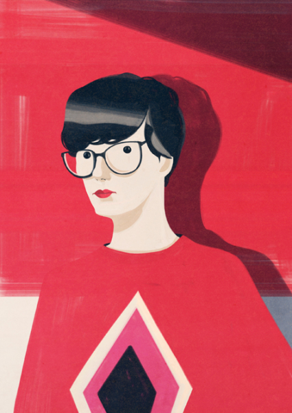 Portrait of Olimpia Zagnoli by Emiliano Ponzi