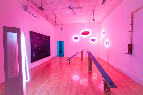 Installation view of LAND AFTER TIME at E. Tay Gallery